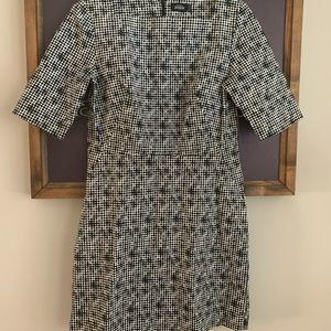 Kate Spade black white patterned Saturday dress 6
